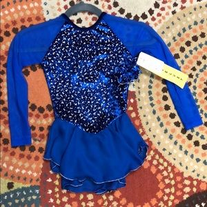 NWT Jerry's 153 royal blue diamond chips dress